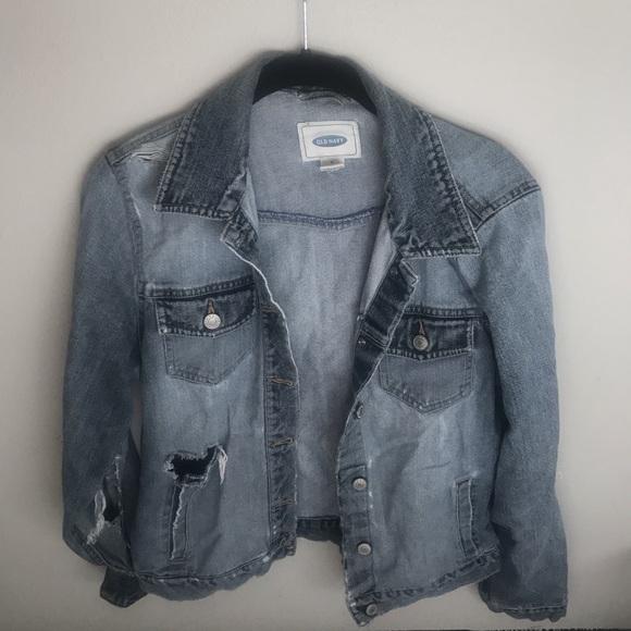 Old Navy Jackets & Blazers - Distressed denim jacket!